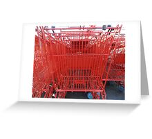 Supermarket red Greeting Card