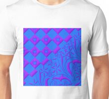 Purple and Blue Butterfly Design Unisex T-Shirt