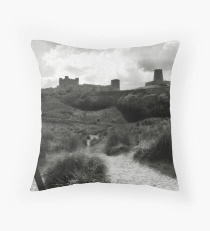 Bamburgh Castle, Northumberland, UK Throw Pillow