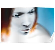 Blurr portrait Poster