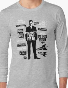 Good Old Fashioned Villain Quotes Long Sleeve T-Shirt