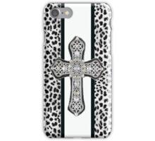 Animal Print Rhinestone Crusted Cross IPhone or I Pod Case iPhone Case/Skin
