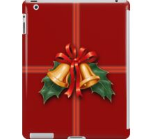 Christmas Holly Bells and Red Ribbon iPad Case/Skin