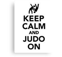 Keep calm and Judo on Canvas Print