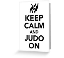 Keep calm and Judo on Greeting Card