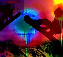 Snowboarding Spray by brickinthewall