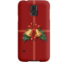 Christmas Holly Bells and Red Ribbon Samsung Galaxy Case/Skin