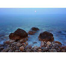 Sunset moon on the sea Photographic Print