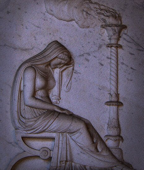 Sarcophagi sculpture another mourning lady  by Sunil Bhardwaj
