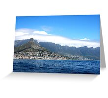 View from the sea Greeting Card