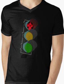 Middle Earth Traffic Light Mens V-Neck T-Shirt