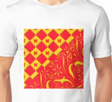 Red and Yellow Butterfly Design Unisex T-Shirt