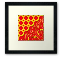 Red and Yellow Butterfly Design Framed Print