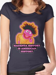 Magenta History Month Women's Fitted Scoop T-Shirt