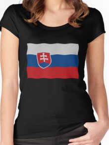 Slovakian flag Women's Fitted Scoop T-Shirt