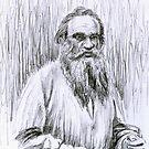 Lev Tolstoj portrait by Francesca Romana Brogani