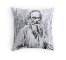 Lev Tolstoj portrait Throw Pillow