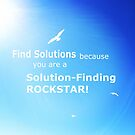 Find Solutions Motivational Poster by Nadine Staaf