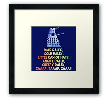 Mad Dalek Doctor Who Framed Print