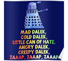 Mad Dalek Doctor Who Poster