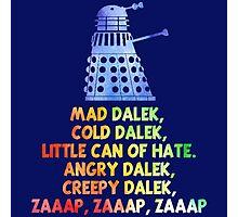 Mad Dalek Doctor Who Photographic Print