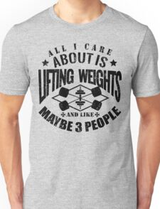 Bodybuilding Lifting Weights Gym Unisex T-Shirt