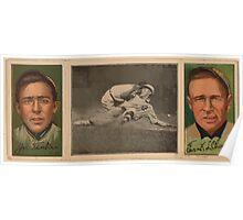 Benjamin K Edwards Collection Jos B Tinker Frank L Chance Chicago Cubs baseball card portrait Poster
