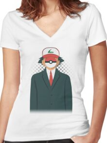 Son of PokeMan Women's Fitted V-Neck T-Shirt