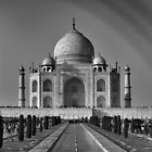 Taj Mahal With a Rainbow in B&W by Christian Eccleston