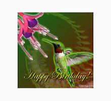 Hummingbird and Fuchsia Birthday  T-Shirt