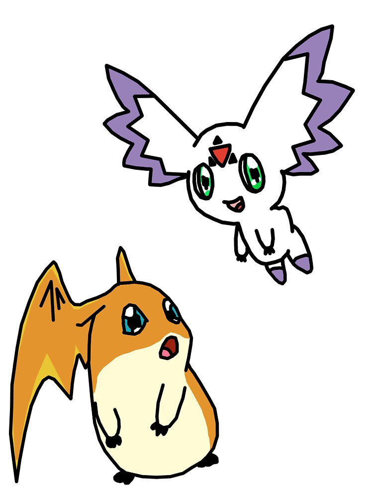 patamon and calumon by Amy101
