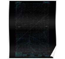 USGS Topo Map Washington State WA Sagebrush Flat 243557 1985 24000 Inverted Poster