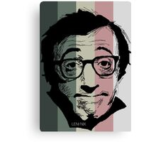 Wody Allen in stripy background! Canvas Print