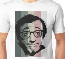 Wody Allen in stripy background! Unisex T-Shirt