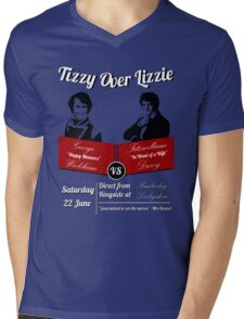 Tizzy Over Lizzie Mens V-Neck T-Shirt