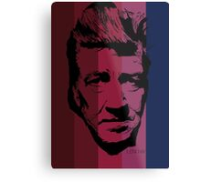 David Lynch in stripy background! Metal Print