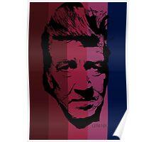 David Lynch in stripy background! Poster
