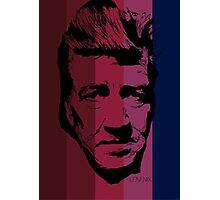 David Lynch in stripy background! Photographic Print