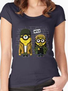 Silent Minion Stuart And Bob Women's Fitted Scoop T-Shirt