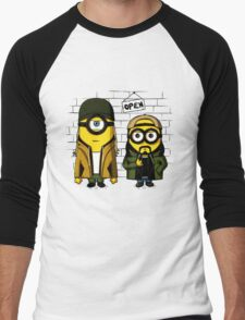 Silent Minion Stuart And Bob Men's Baseball ¾ T-Shirt