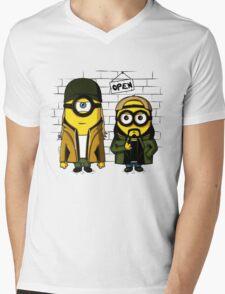Silent Minion Stuart And Bob Mens V-Neck T-Shirt