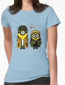 Silent Minion Stuart And Bob Womens Fitted T-Shirt
