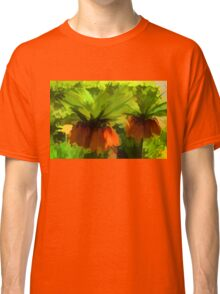 Showy Orange Crown Imperial Flowers - Impressions Of Spring Classic T-Shirt