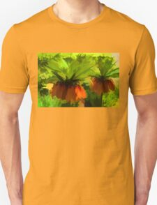 Showy Orange Crown Imperial Flowers - Impressions Of Spring Unisex T-Shirt