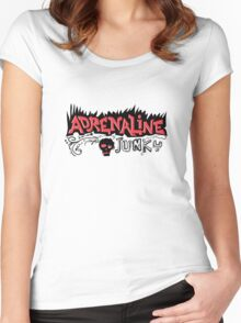 Adrenaline Junky  Women's Fitted Scoop T-Shirt