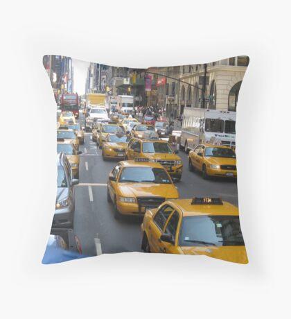 Taxi Rumble Throw Pillow