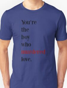 The boy who murdered love -red/black T-Shirt