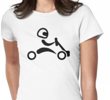 Kart racing Womens Fitted T-Shirt