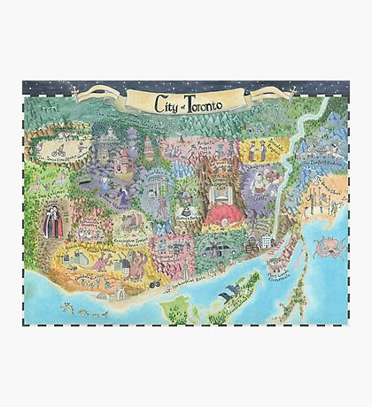 Fantasy Map of Toronto, Might and Magic Style Photographic Print