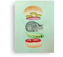 Catsup - Cat Burger Delight! Canvas Print